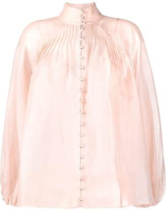 Zimmermann Lovestruck Swing linen-blend blouse