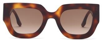 Victoria Beckham Square Tortoiseshell-acetate Sunglasses - Tortoiseshell