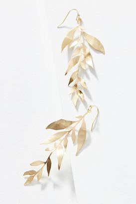 Anthropologie Eucalyptus Drop Earrings By in Gold