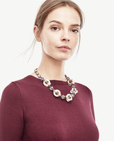 Ann Taylor Oversize Sequin Necklace