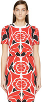 Alexander McQueen Red Matisse Print Cropped Top