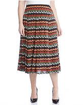 Karen Kane Plus Printed Midi Skirt