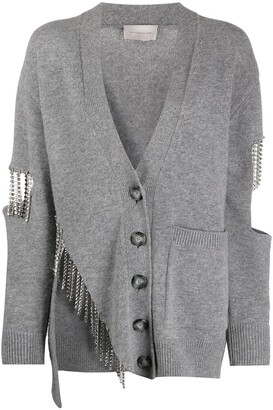 Christopher Kane Fringed Cut-Out Cardigan