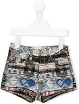 Bellerose Kids - Aztec pattern shorts - kids - Cotton/Polyester/Acrylic/other fibers - 4 yrs