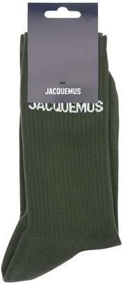 Jacquemus Logo Intarsia Cotton Blend Socks