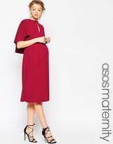 Asos Soft Cape Back Midi Dress