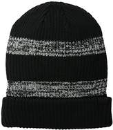 Levi's Men's Wide Cable Knit Two-Toned Striped Beanie