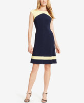 American Living Colorblocked Cap-Sleeve Dress