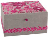 Lennon & Maisy Tapestry Jewelry Box, Large, Pink