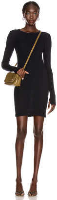 Enza Costa Cashmere Thermal Cuffed Mini Dress in Cadet | FWRD