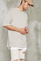 Forever 21 Distressed Longline Sweatshirt
