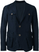 Giorgio Armani button-embellished blazer - men - Silk/Cotton/Polyester/Steel - 48