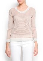 MANGO Metallic striped sweater