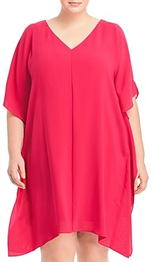 Adrianna Papell Size Cold Shoulder Caftan Dress