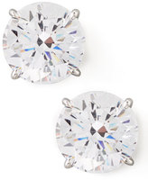 FANTASIA Round Cubic Zirconia Stud Earrings, 9mm