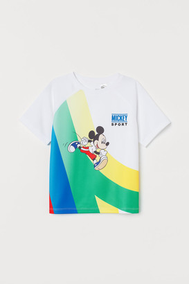 H&M Printed Sports Shirt - White