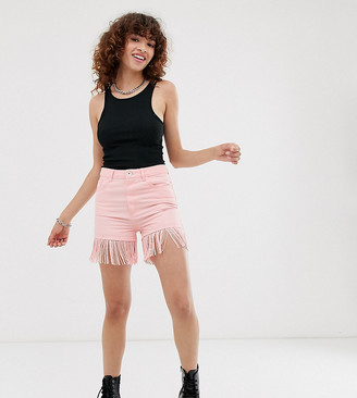 See You Never fringed shorts