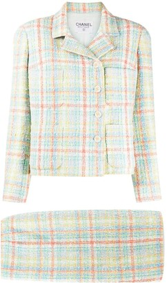 Chanel Pre Owned Tweed Two-Piece Skirt Suit