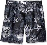 Kanu Surf Men's Big Paradise Extended Size Stripe Floral Swim Trunk