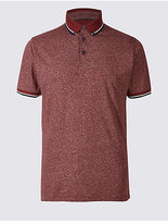 Limited Edition Slim Fit Cotton Blend Textured Polo Shirt