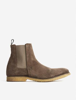 AllSaints Rhett pull-tab suede Chelsea boots