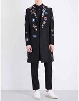 Alexander Mcqueen Patch-detail Cotton-blend Coat