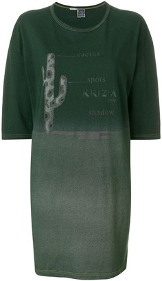 Krizia Pre Owned printed T-shirt dress