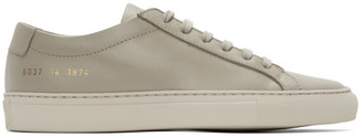 Common Projects Grey Saffiano Contrast Achilles Low Sneakers