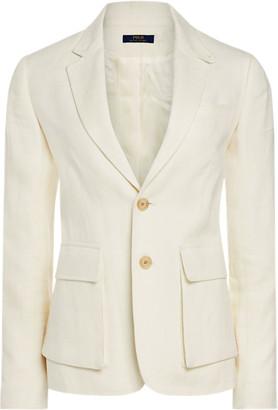 Ralph Lauren Linen-Blend Two-Button Blazer