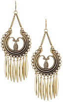 Stephan & Co Textured Chandelier Fringe Earrings