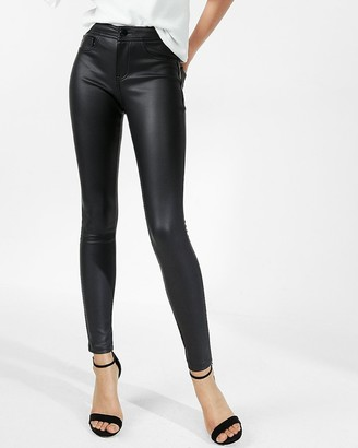Express Five Pocket Vegan Leather Leggings