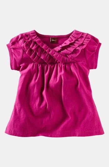 Tea Collection Short Sleeve Top (Little Girls & Big Girls)