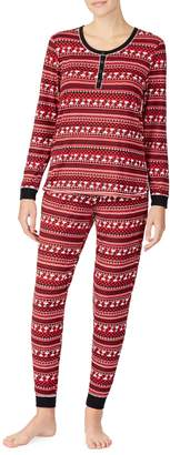 Peanuts 2-Piece Fair Isle Ski Pyjama Set
