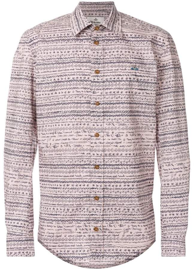 Vivienne Westwood shirt with scribble pattern