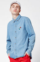 The Hundreds x Aaron Kai Waves Denim Long Sleeve Button Up Shirt