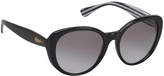 Ralph Lauren Black & Gray Gradient Cat-Eye Sunglasses
