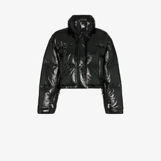 Scala SHOREDITCH SKI CLUB patent leather puffer jacket