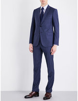 Armani Collezioni Modern-fit Prince Of Wales Check Wool Suit