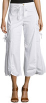 XCVI Ankle-Length Gaucho Pants, White