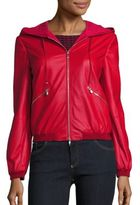 Armani Collezioni Hooded Leather Jacket