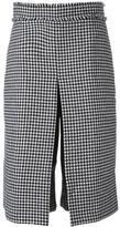 J.W.Anderson box pleat houndstooth culottes - women - Cotton/Polyamide/Wool - 10