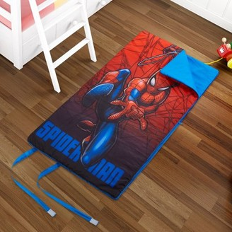 The Amazing Spiderman Marvel Spiderman Kids Slumber Bag, Machine Washable w/ Side Zipper