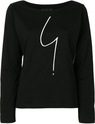 agnès b. Graphic-Print Long-Sleeve Top
