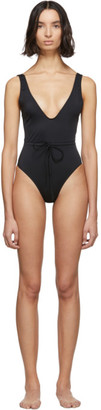 Solid and Striped Black The Michelle One-Piece Swimsuit