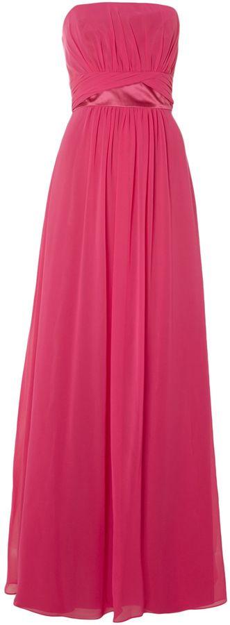 Ariella Bridesmaid strapless chiffon dress