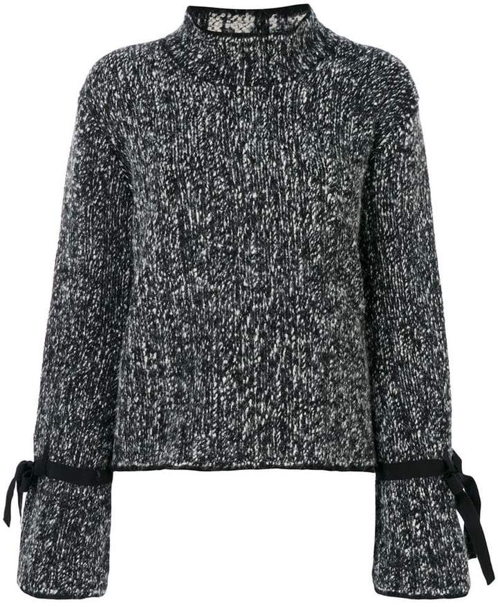 Moncler tie fastening knitted jumper