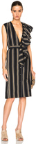 Tome Silk Cotton Deep V Neck Dress