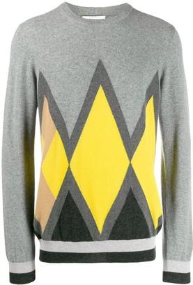 Pringle Diamond Intarsia Knit Sweater