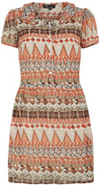 Dorothy Perkins Orange aztec print dress