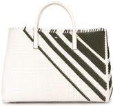 Anya Hindmarch weavebasket pattern stripe tote